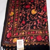 Embroidered Pashmina Wool Shawl