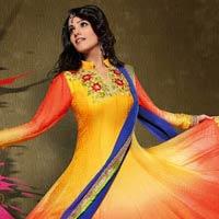 Chiffon Semi Stitched Salwar Kameez