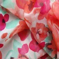 Laser Georgette Fabric