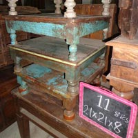 traditional wooden bajot table