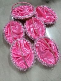 Cane Pink Baby Baskets