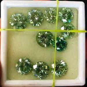 Jewelery Fancy Color Loose Diamonds Round Shape