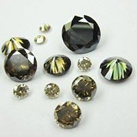 Excellent Quality Round Brilliant Cut Fancy Color Moissanite Diamonds