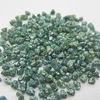Natural Loose Greenish Blue Rough Diamond Beads
