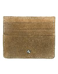 Jl Collections Unisex Brown Leather Card Holder (3 Card Slots) - Jl_cc_3116_b
