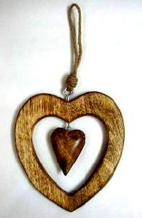 Wooden Heart Christmas Decoration