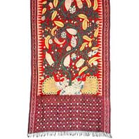 Ikat Hand Painted Dupatta Pd-16