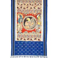 Ikat Hand Painted Dupatta Pd-17