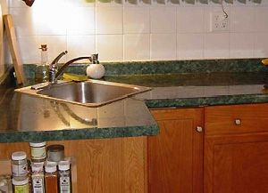 Green Marble Counter Top