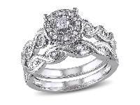 Diamond Infinity Filigree Bridal Set ring