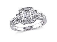 Round Diamond Layered Engagement Ring