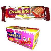 Chocolate Cream Bite Biscuits