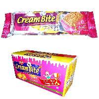 Strawberry Cream Bite Biscuits