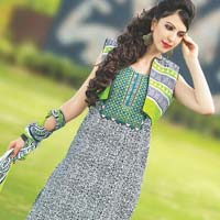 Satin Cotton With Embroidery Suit