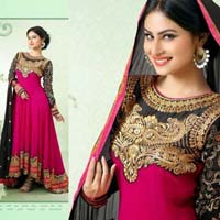 Naaz - Back On Demand - Designer Georgette with Embroidered Semi Stitched Straight Suits