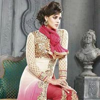 Plazo Designer Georgette Embroidered Straight Suits