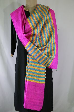 Dupion Silk Multi Color Dupattas