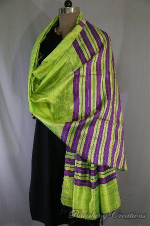 100% Handwoven Dupion Silk Dupatta