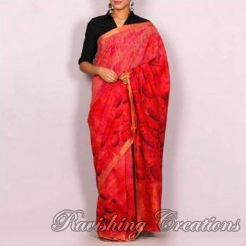 Hand Painted Handloom Cotton Sarees