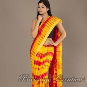 Noil Silk Shibori Sarees