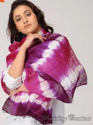 Shibori Dupion Silk Stole
