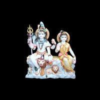 Marble Shiva Parvati Statue