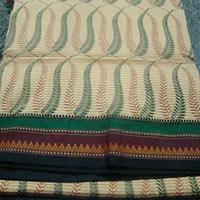 Mono Cotton Hand Printed Sarees