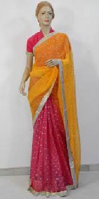 bandhej designer saree
