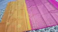 Border Less Silk Saree