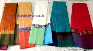 Chettinadu Cotton_ Double Colored Border Sarees
