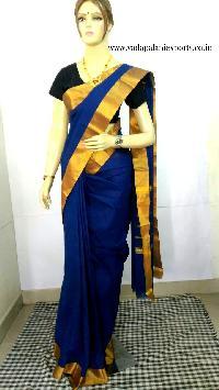 Plain Chettinadu cotton sarees
