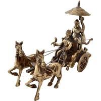 Brass Krishna Arjun Chariot
