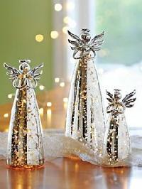 glass christmas figurines