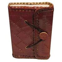 Leather Button Diary