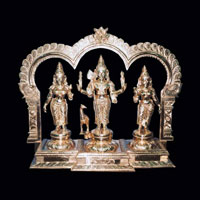 Valli Murugan Deivanai Brass Statue