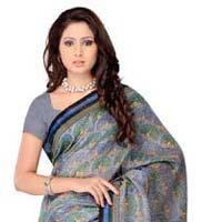 Animal Printed Silk Saree