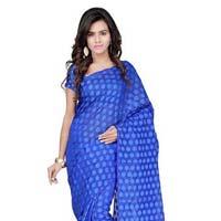 Blue Kota Jacquard Printed Saree