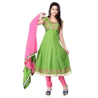 Green Embroidered Salwar Kameez