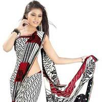Women Wear Crepe Saree