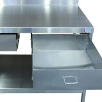 Stainless Steel Double Drawer Table