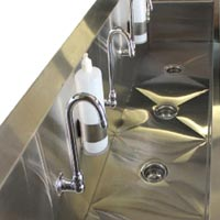Stainless Steel Floor Mount Clean Sink with Foot Pedals