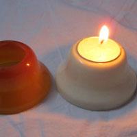 Stone Cap T Light Holders