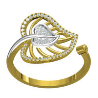 Real Diamond Studded 18kt Gold Ring