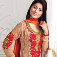 Karachi Work Straight Cut Georgette Salwar Kameez