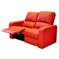 Leather Push Back Recliner Chairs