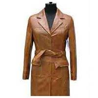 Long Leather Overcoat
