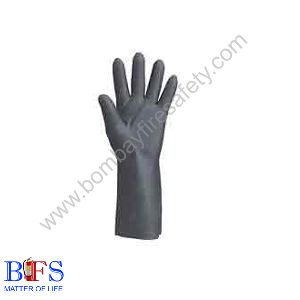 Black Neo Print Gloves