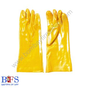 Pvc Supported Cotton Lining Gloves