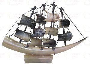 Decorative Horn Ship