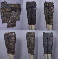 Mens Capri Regular Casual Wear, Army Cargo Style